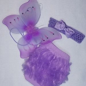Other - Ruffle butt butterfly wing set